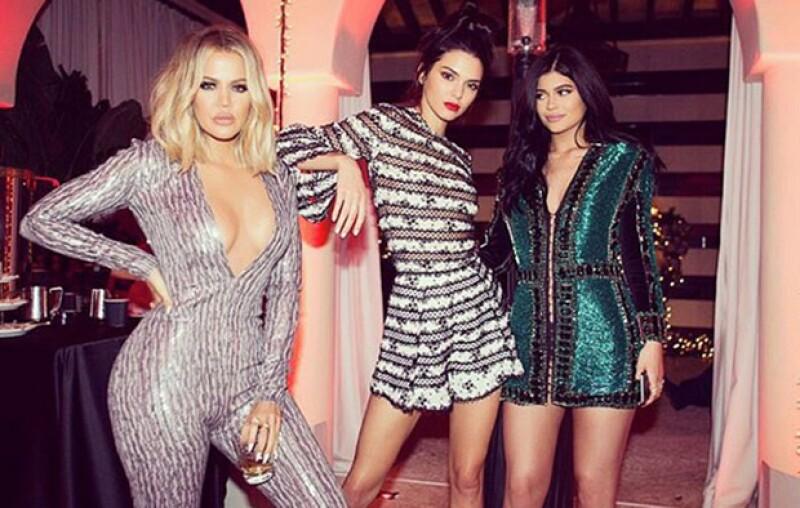 La celeb pasó Navidad en compañía de sus hermana Kylie y Kendall.