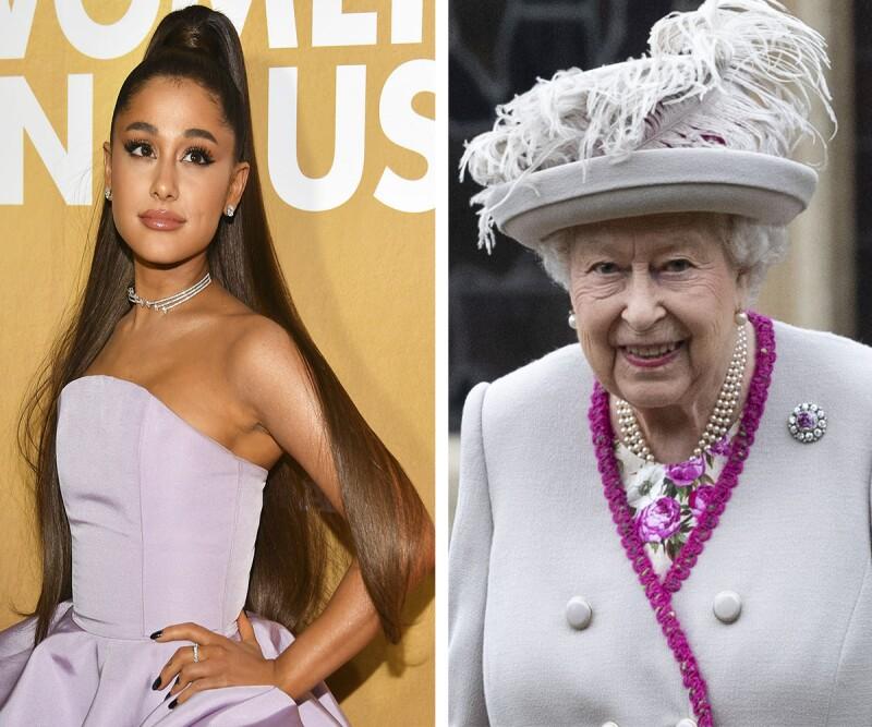 Reina Isabel y Ariana Grande