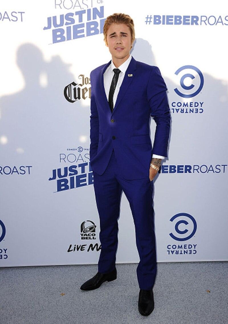 Justin Bieber a su llegada al programa de Comedy Central.