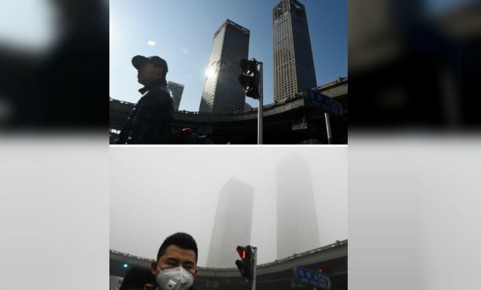 Así se ven los edificios en el centro financiero de Beijing.