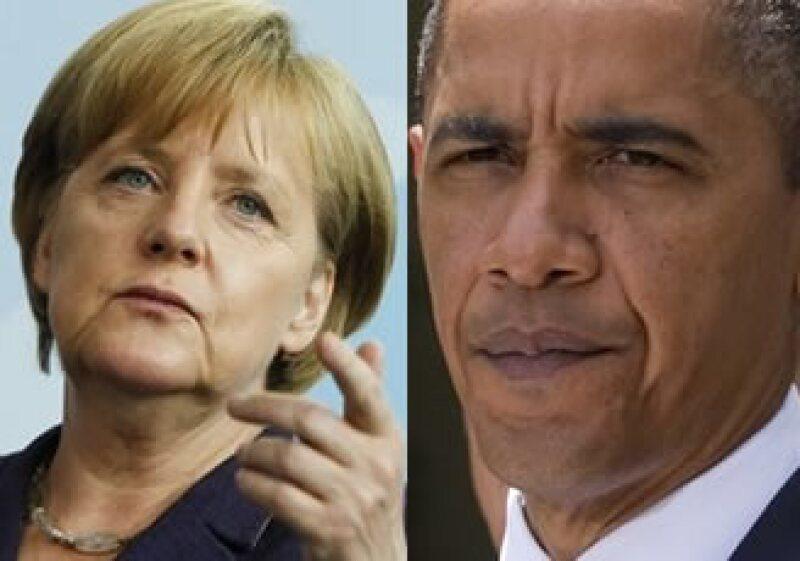 """Desde que Obama pidió una concentrarse en el crecimiento, Angela Merkel, dijo que los recortes son """"urgentemente necesarios"""". (Foto: Especial)"""