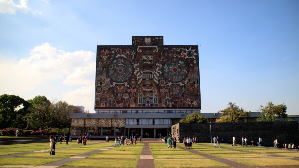 Main library, UNAM campus