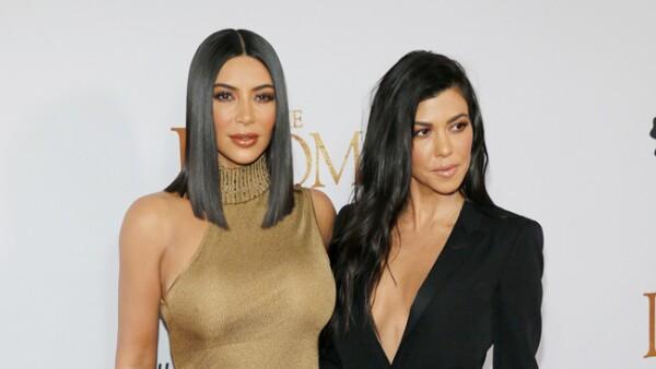 Kim Kardashian West y Kourtney Kardashian.