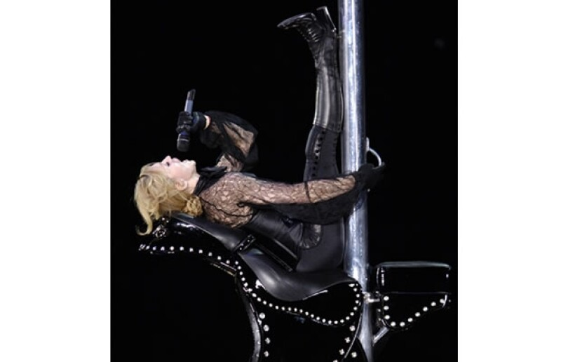 Madonna aplica los ejercicios en sus conciertos.