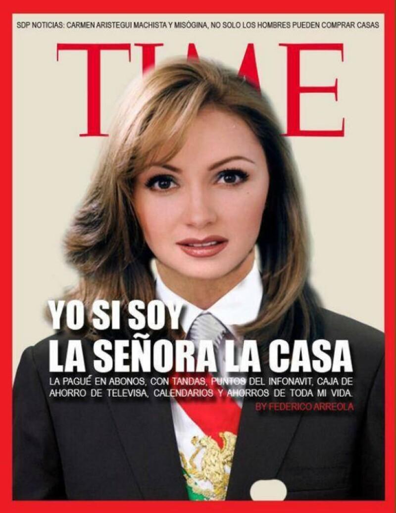 """Este meme hace alusión a las declaraciones que diera Peña Nieto en el pasado al mencionar """"yo no soy la señora de la casa""""."""