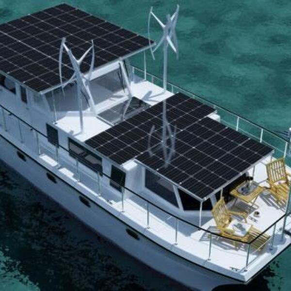 yate ecologico turbina vientos island pilot