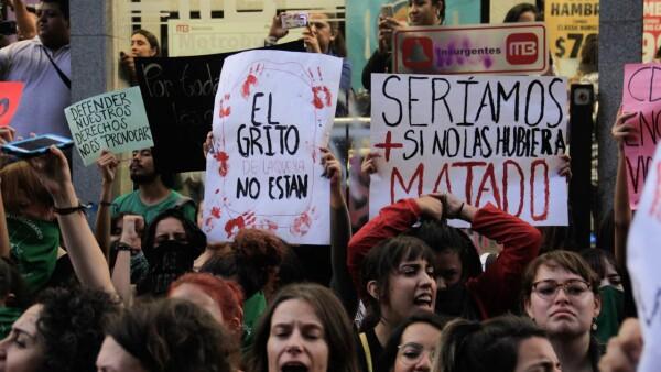 Manifestación violencia de género