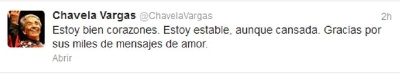 La cantante costarricense compartió un mensaje en su cuenta de Twitter luego de que fuera hospitalizada en España.