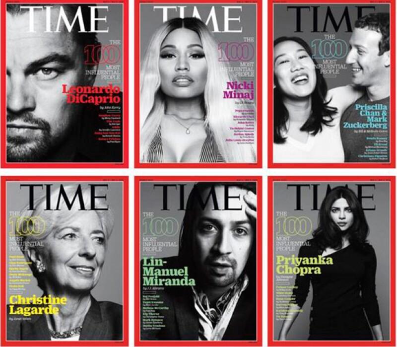La publicación lanzó seis distintas portadas para homenajear a los elegidos.