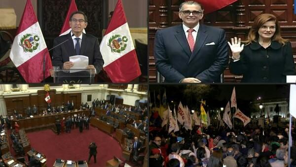 El presidente de Perú disuelve el Congreso y este lo suspende por un año