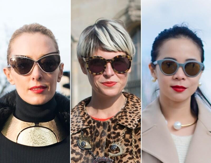 Acne sunglasses, Dolce & Gabbana y Dior.