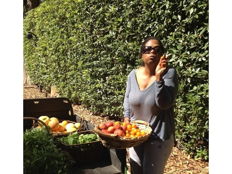 Oprah disfruta de los placeres sencillos de la vida.