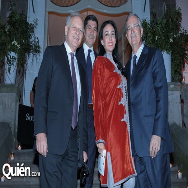 Axel Stein, Jorge Nikaido, María Laura Salinas, Ricardo Salinas Pliego