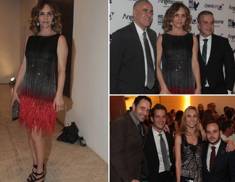Angélica y el diseñador Ricardo Seco organizaron una cena a beneficio en el Museo Tamayo.