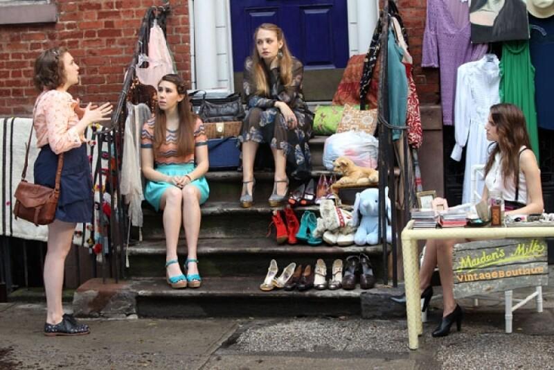 Allison en el set de Girls.