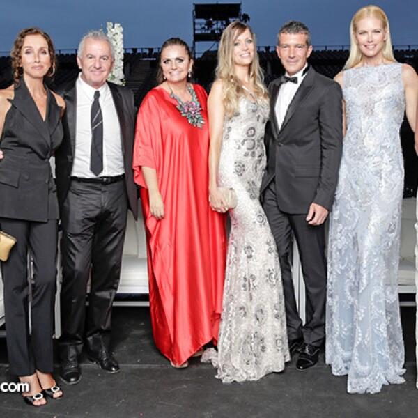 Manuel y Ana Belén, Sandra García Sanjuán, Nicole Kimpel, Antonio Banderas, Valeria Mazza y sara Baras