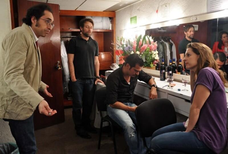 Quién.com estuvo en backstage con Bruno, Marina y Juan Manuel, minutos antes de salir al escenario.