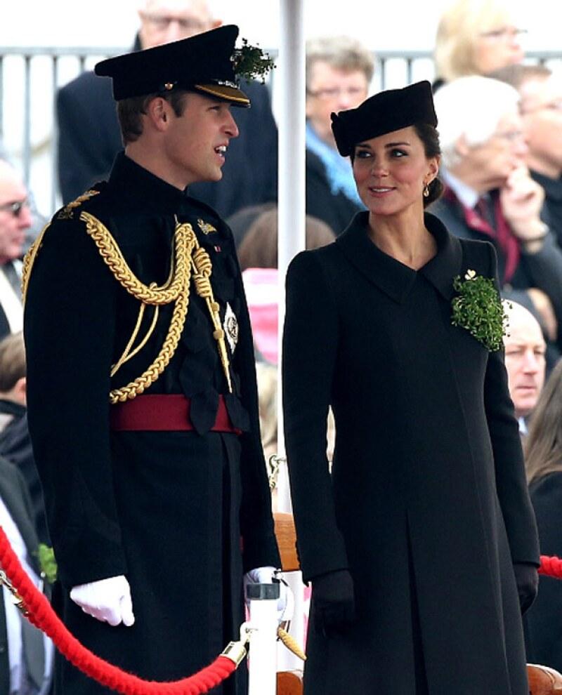 La pareja real en su penúltimo evento juntos, antes de que Kate se retirara a su casa de Norfolk para pasar las últimas semanas de su embarazo.