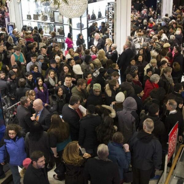 Black Friday dentro de Macys NY