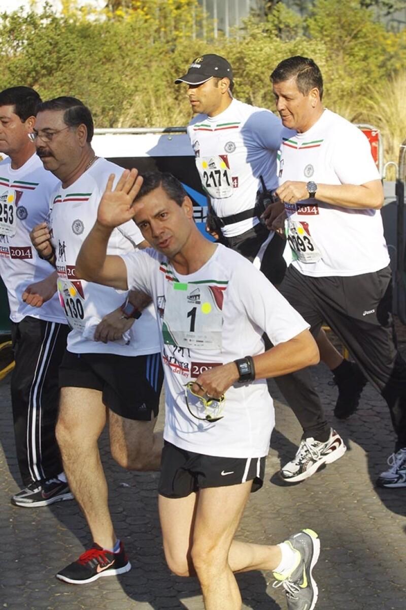 Peña Nieto mejoró su marca del año pasado por más de un minuto.