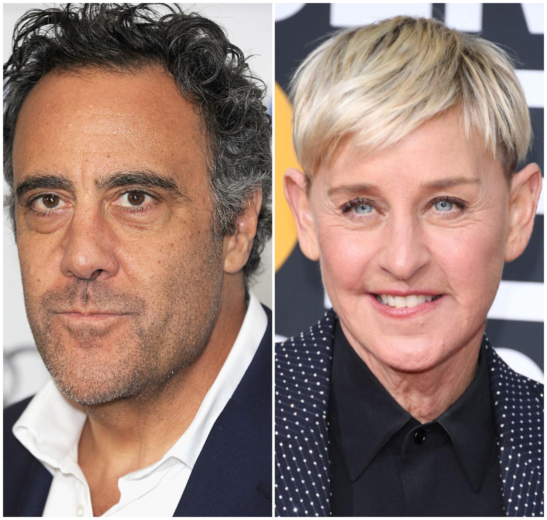 Brad Garrett y Ellen DeGeneres
