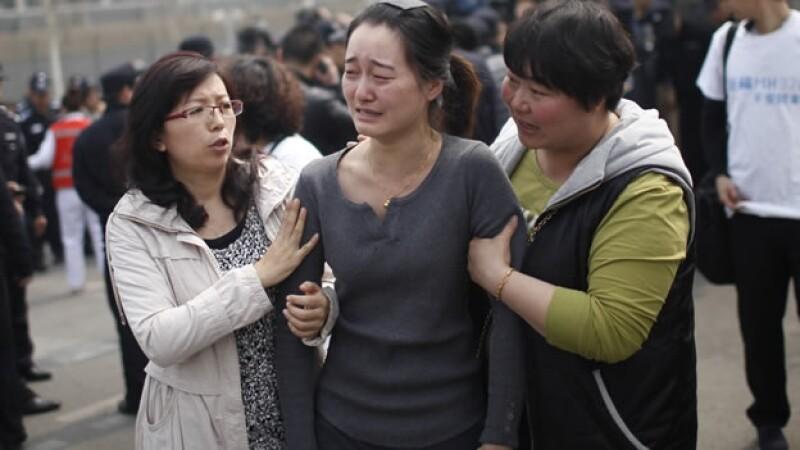 Un familiar de los pasajeros del vuelo 370 de Malaysia Airlines