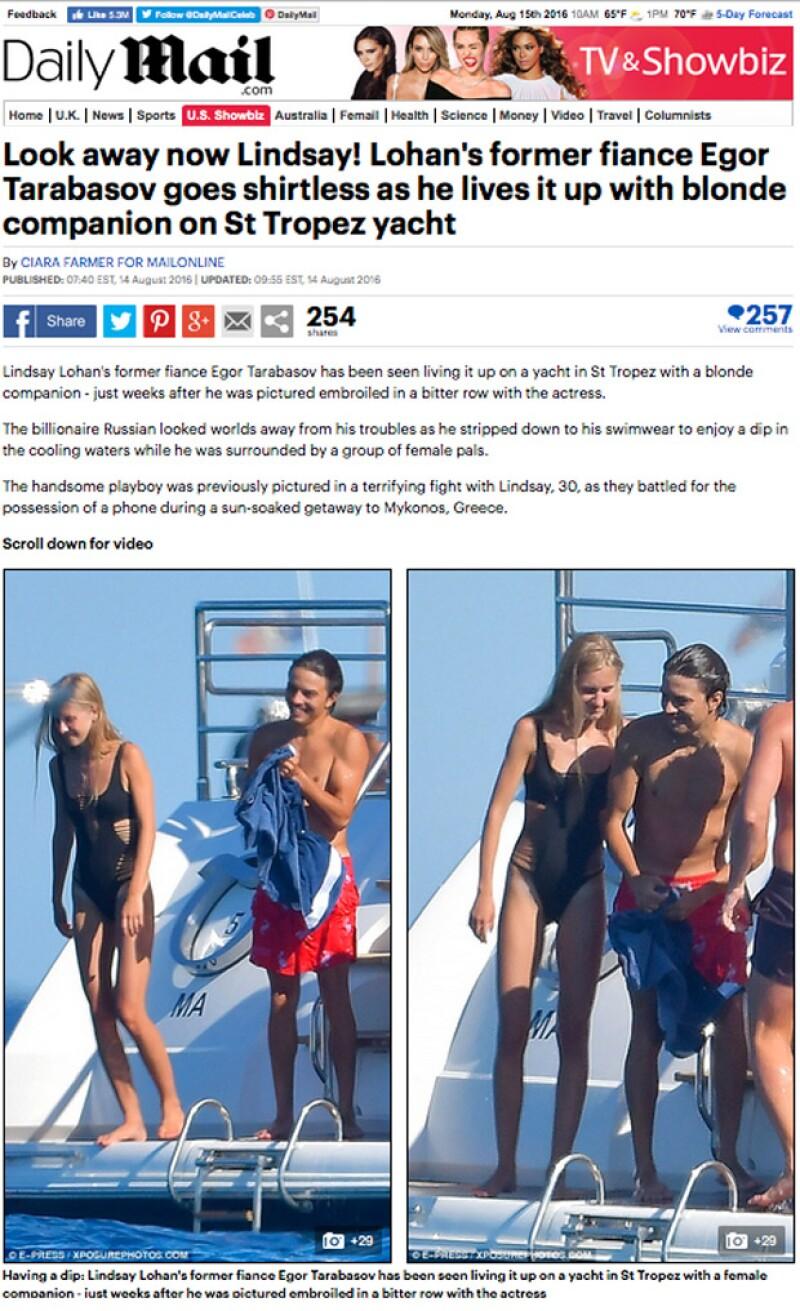 El sitio de Daily Mail ha publicado las fotos de la mujer con la que el ex de Lindsay Lohan fue visto este fin de semana.