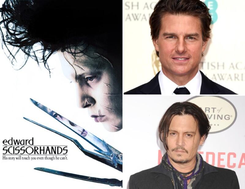 Tom Cruise rechazó el papel de Edward Scissorhands y del agente Salt, el cual se lo quedó Angelina Jole