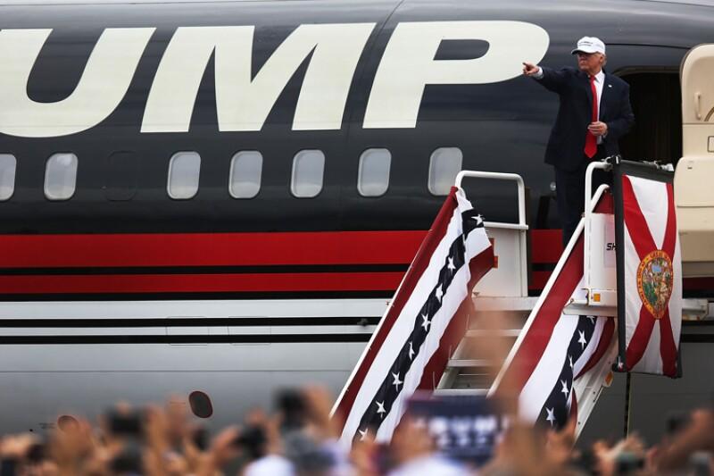 Donald Trump, avión