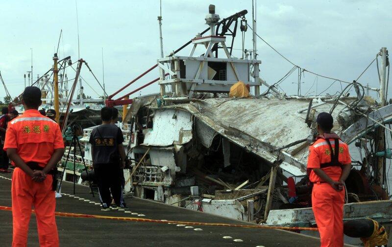 El barco pesquero que fue blanco del misil.