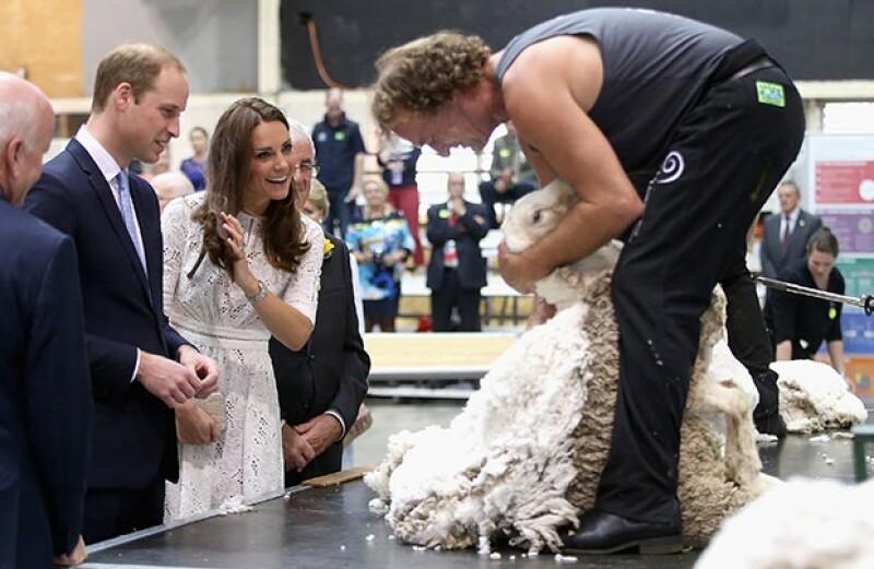 Kate bromeó pidiendo a Guillermo que se pusiera un poco de la lana en la cabeza.
