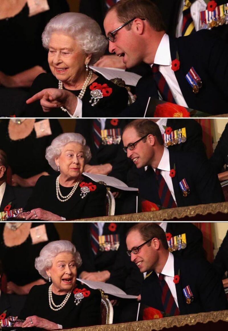 El príncipe es el único que ha logrado sacarle sonrisas a la reina Isabel.