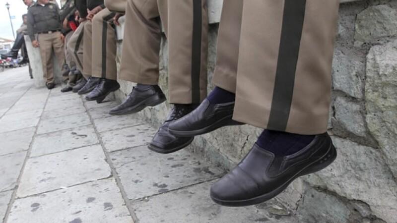 manifestacion de policias