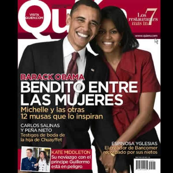 Barack Obama visitará Guadalajara el 9 y 10 de agosto para reunirse con sus homólogos de México y Canadá. La revista Quién publica en su edición de esta semana un repaso por las mujeres han sido clave en su vida. Conócelas.