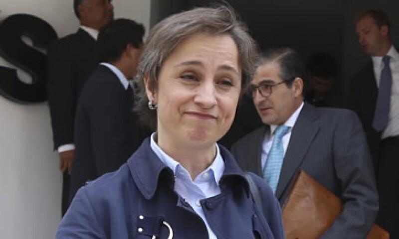 La periodista Carmen Aristegui se reunió con MVS Radio el 18 y el 21 de mayo. (Foto: Cuartoscuro )