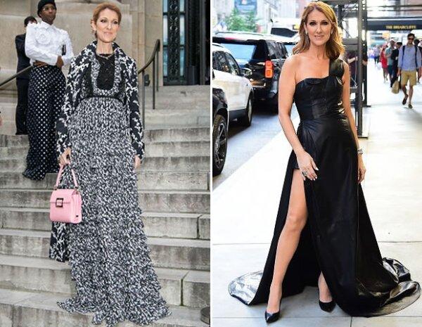 Céline Dion diversificó su estilo y demuestra que se ve igual de bien con vestidos más clásicos y otros más arriesgados.