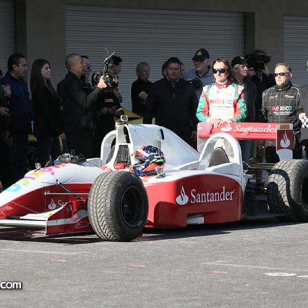 Emerson Fittipaldi, Héctor Alonso Rebaque y Miguel Ángel Mancera