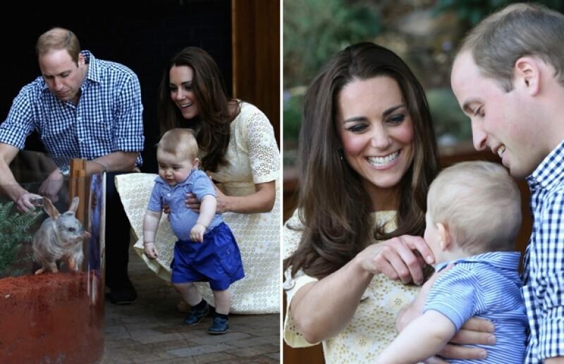 El príncipe George tuvo el privilegio de visitar el zoológico en una visita privada junto a sus orgullosos papás.