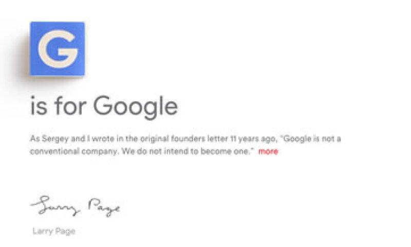 Larry Page dio a conocer la nueva empresa este lunes. (Foto: Alphabet Inc)