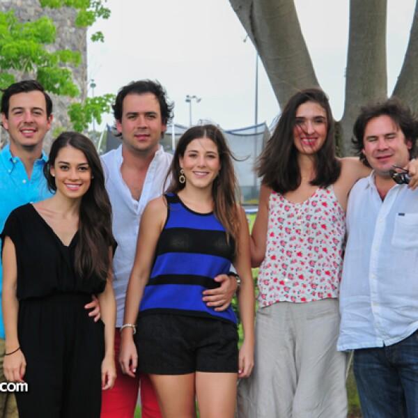 Pablo Mora,Andrea Ortiz,Diego Mora,Eli Cantarero,Martha Ramírez y Daniel Mora