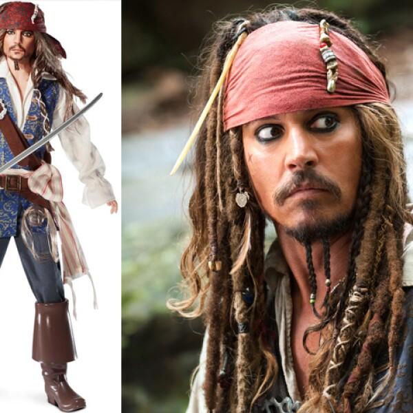El personaje de Piratas del Caribe que interpreta Jhonny Depp, Jack Sparrow, es de los preferidos por los fans de la saga y del actor.