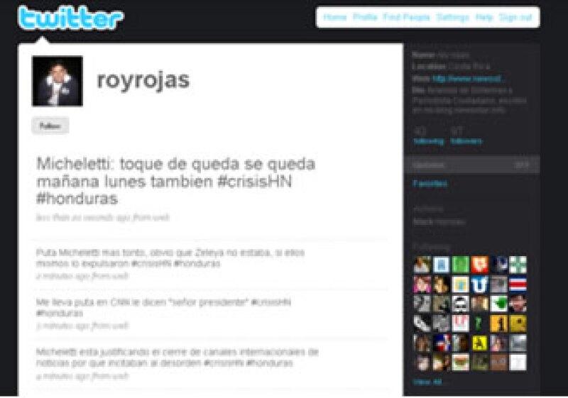 Miles de ciudadanos hondureños reportaban en 140 caracteres lo que ocurría en vivo y en directo en su país. (Foto: Especial)