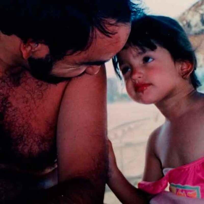 La actriz no pierde oportunidad para recordar a su papá en fechas importantes.