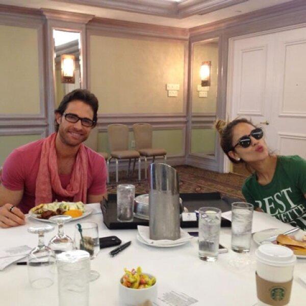 El staff de Premios Juventud consintió a los actores con un desayuno nutritivo.
