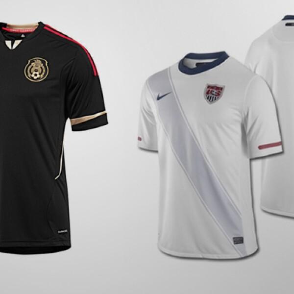 Las selecciones de futbol de EU y México se enfrentan este sábado en la final de la Copa Oro. El 'jersey' del país vecino, con un costo de 55 dólares. La playera nacional tiene un costo de 70 dólares.