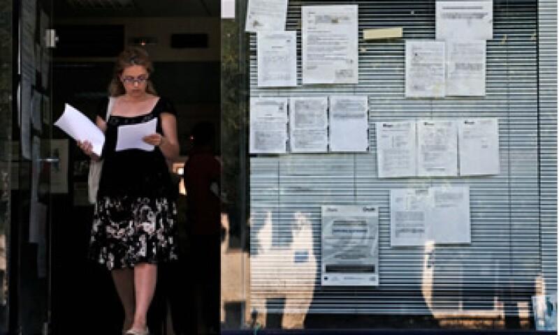 El númro de empleados en Grecia bajó 8% en julio respecto al mismo mes de 2011.  (Foto: AP)