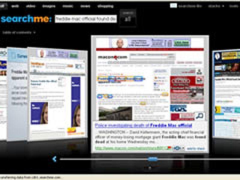 Sitios como Searchme muestran al lector los resultados de su búsqueda en forma de imagen. (Foto: Cortesía)