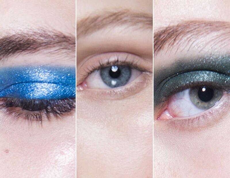 Los verdes y azules metálicos impactaron, al igual que los ojos nude.
