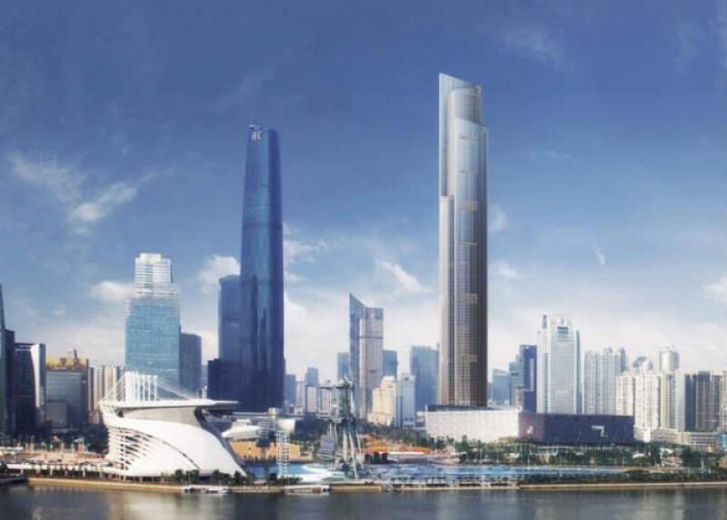 Rascacielos chino donde ser� construido el elevador m�s r�pido del mundo