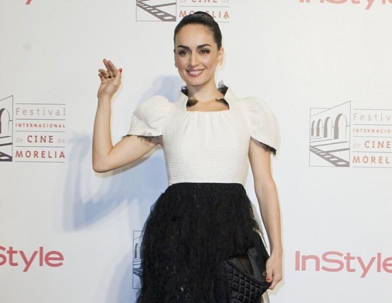 Ana de la Reguera se mostró feliz de estar nuevamente en el Festival de cine de Morelia.